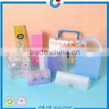 Clear plastic packaging box for soap box,cosmetic packaging display package on store