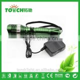 High Power 3 modes Flashlight Bike light Zoomable waterproof Camping LED Flashlight recharger flash light