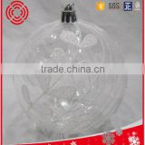 clear christmas ball with beautiful pattern ,Xmas decoration
