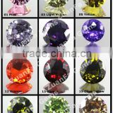 various colors good quality cubic zirconia color chart