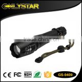 Onlystar GS-9409 hot selling customized led light manufacturer flash light lenser torches zoom dimmer led flashlight