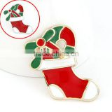 Christmas boote brooth New 2013 promotion Christmas motif ornaments santa claus shoes brooch decoration gift presents products