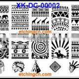 2016 new nail stamping plates konad nail art, Stamping Plate , crushed sea shell nail art