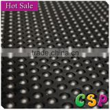 Stable wear resistant rubber sheet