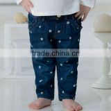 DB1533 dave bella 2014 autumn winter baby pants children long pants trousers baby jeans thicker pants