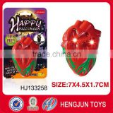 shantou toys factory wholesale plastic simulated flashing LED heart pendant for promotion Halloween toy