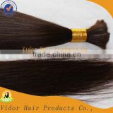 Wholesale Hot Selling Top quality Natural Color Virgin 100% Brazilian hair bulk human hair extension