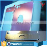 anti-glare color tempered glass screen protector for iphone 5 alloy color tempered glass screen protector