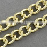 Gold Chunky Aluminum Cuban Link Chains for Curb Chain Necklace Making(CHA-K1617)