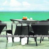 Bistro Furniture Set Plastic Chairs with Glass Table