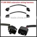 5202/H16/2504/PSX24W Female Socket Connector Adapter To P13W Male Socket With Wire Harness Cable HID/LED socket for bmw