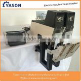 Double head Electric Stapler Saddle Stitching Machine with Foot Pedal