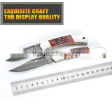 Manufacturers selling outdoor camping knife knife Damascus steel carved red bone folding knife