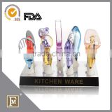 Kitchen accessories colorful acrylic kitchen utensils with holder
