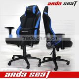 Blue Black PVC Leather Wholesale Economic Racing Gamer Seat Office Revolving Office Chair With Wooden Armrest Swivel Chairs