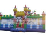 2016 hot sale new product inflatable fun city large all- around game including slide, obstacle and jumpinng area