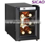 Table top mini wine chiller display cooler, Stylish Glass Door small refrigerator freezer Electric wine fridges