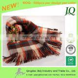 Classical Check Fluffy Wool Scarf