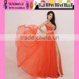 Latest High Quality V-neck Night Gown Evening Prom Dress Wholesale Long Sleeveless Formal Night Gown Evening Prom Dress