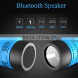 Portable mini bluetooth speaker wireless 4.0 IF card outdoor ride audio flashlight lighting charging your phone