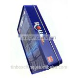 wholesale food grade colorful rectangle hard candy tin can