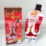 2015 hot sell Take off hat B/O Santa Claus with music and light ( Christmas toys )TB15080022