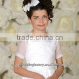Free shipping beaded custom-made organza casual short sleeve wedding flower girl boleros CWFaJ5557