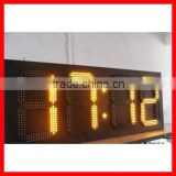 Indoor Usage and yellow Tube Chip Color Digital LED Clock Wholesale