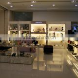 retail garment shop interior design custom shoes display showcase and bags display shelf