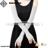 Women Arm Sleeves Fingerless Gloves Custom Car Sunshade Stretchy Long Sleeve