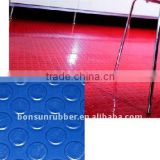 from 3mm to 6mm thickness Coin Round pattern Rubber Floor matting