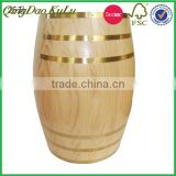 eco friendlyfactory wholesale kinds of wooden keg for beer red wine coffee and decoration