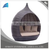 Modern Contemporary Outdoor Rattan Patio Double Chaise Lounge Furniture
