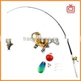 as seen on tv mini fishing rod set Fishing tackle portable telescopic pen reel wheel fish kits