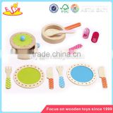 Wholesale wonderful pretend wooden tableware set toy interesting wooden tableware set toy W10B063