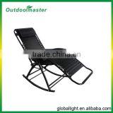 Black Rocking Zero Gravity Chair Beach Chair