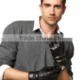 Leather Gloves With Black Fur