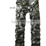 High Quality Casual Cargo Pants for Men Long Warm Lining Cotton Trousers Pockets Training Pants