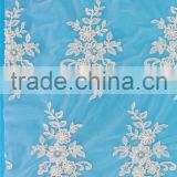 China Dongguan factory direct import fancy beaded cord lace fabric