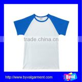 china alibaba cotton plain kids t-shirts super quality cheap color combination tshirt for children