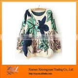 2014 Fashion Beauty Flower Knitted Sweatshirts With Good