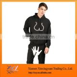 Men's cotton hoodies suit sweatshirts, zip up,made of navy blue cotton polyester fleece,custom logo/sizes