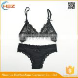HSZ- 0019 Women bra Factory wholesale fashion sexy model bra sexy bra and panty new design ladies bikini