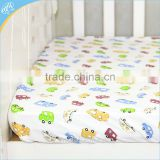 Beautiful printed floral cot sheet set for baby crib bedding