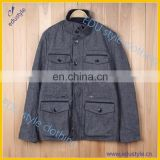 Winter Quick Dry Wool And Nylon Men Coat With 4 Pockets