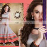 New Bollywood fashionable Designer Suit Fashionable Anarkali Salwaar Kameez Bridal Wear Heavy Material Georgette Dress R1386