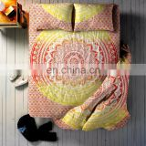 Indian Latest Red Ombre Mandala Duvet Cover Bed sheet With 2 Pillow Cover full Set Queen Size Bedding Full Set
