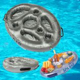 Hot sale inflatable spa bar floating hot tub for drinks pizza snacks with side tray holder