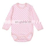 JQBD162 Light Pink Infant Bodysuit Organic Cotton Baby Rompers Wholesale Baby Clothes