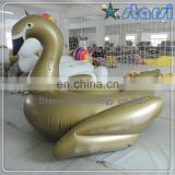 2016 Stock Amazon FBA Giant inflatable gold swan float